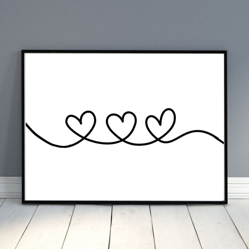 Heart Loop Wall Decor print - gallery wall art