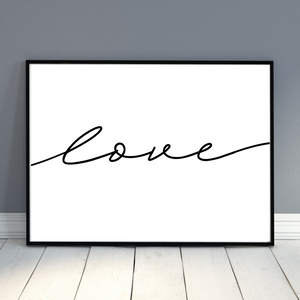 Love Script wall decor print - romantic wall art