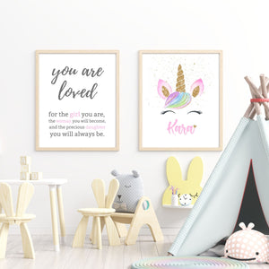 You are loved print - Wall art - mix and match
