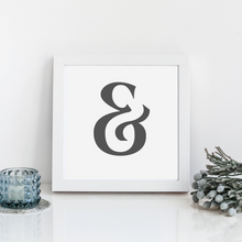 Load image into Gallery viewer, Ampersand Wall Decor print