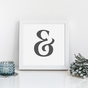 Ampersand Wall Decor print