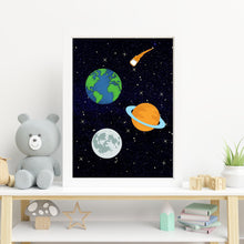 Load image into Gallery viewer, To the Moon Space Man Prints - Wall art print set or individual prints