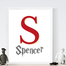 Load image into Gallery viewer, Monogram Name Print - choose your color - Boys and Girls personalized wall art