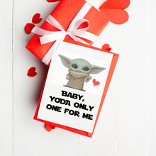 Load image into Gallery viewer, Yoda One for Me - Valentine's Day Card