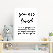 Load image into Gallery viewer, You are loved print - Wall art - mix and match