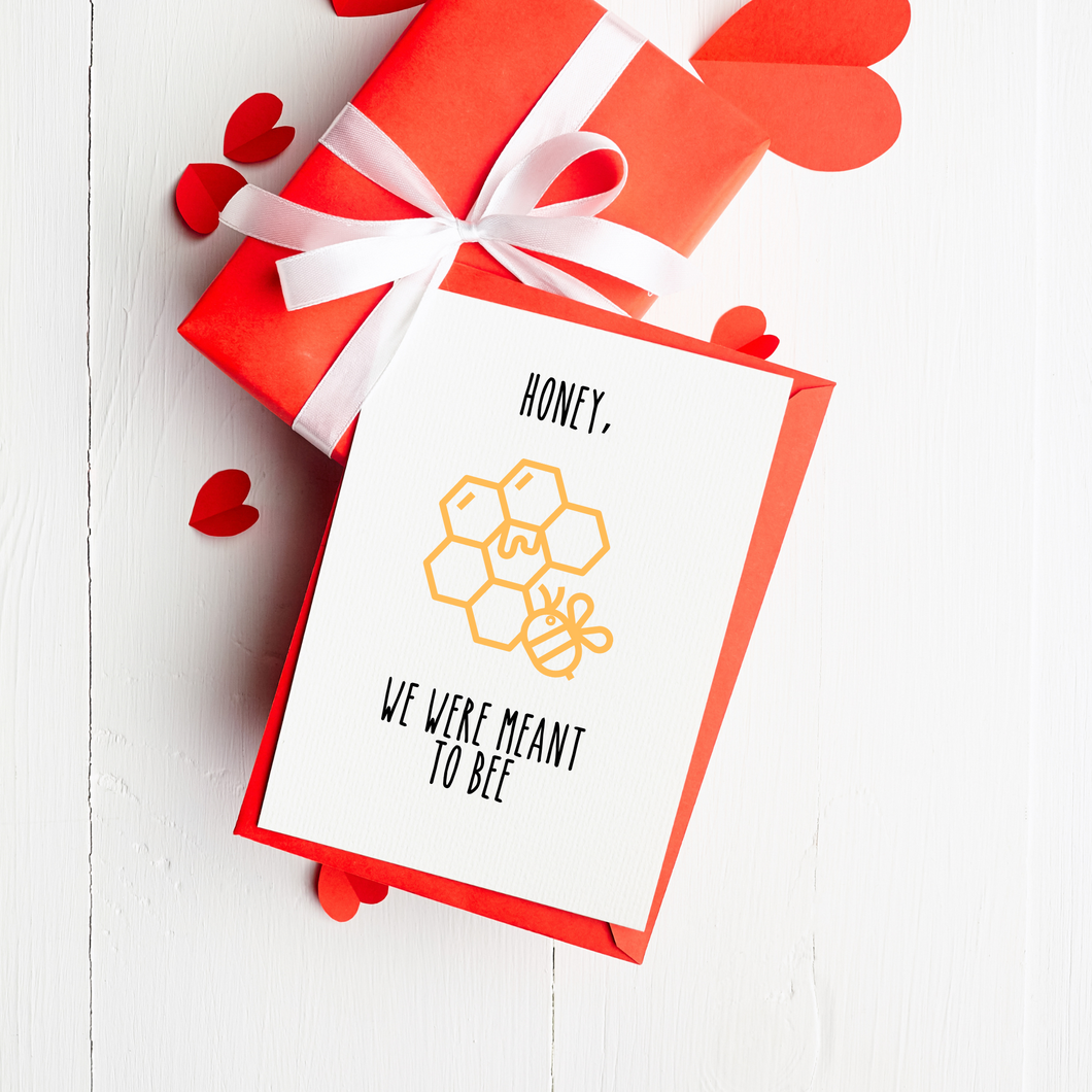 Meant to Bee - Valentine's Day Card