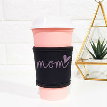 Load image into Gallery viewer, Little Black Cup Sleeve - Reusable Coffee/Tea Cup Koozie