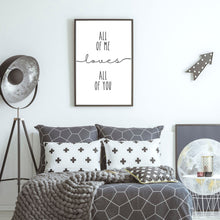 Load image into Gallery viewer, All of Me Loves all of You Wall decor prints - Bedroom wall art