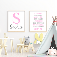Load image into Gallery viewer, Dream Big Playroom print - kids bedroom inspirational saying wall art