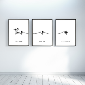 This is Us Wall decor prints - Set of 3 - Bedroom wall art