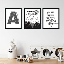 Load image into Gallery viewer, Adventure Awaits Mountain Print - nursery or kids bedroom wall art