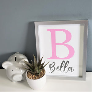 Monogram Name Print - choose your color - Boys and Girls personalized wall art