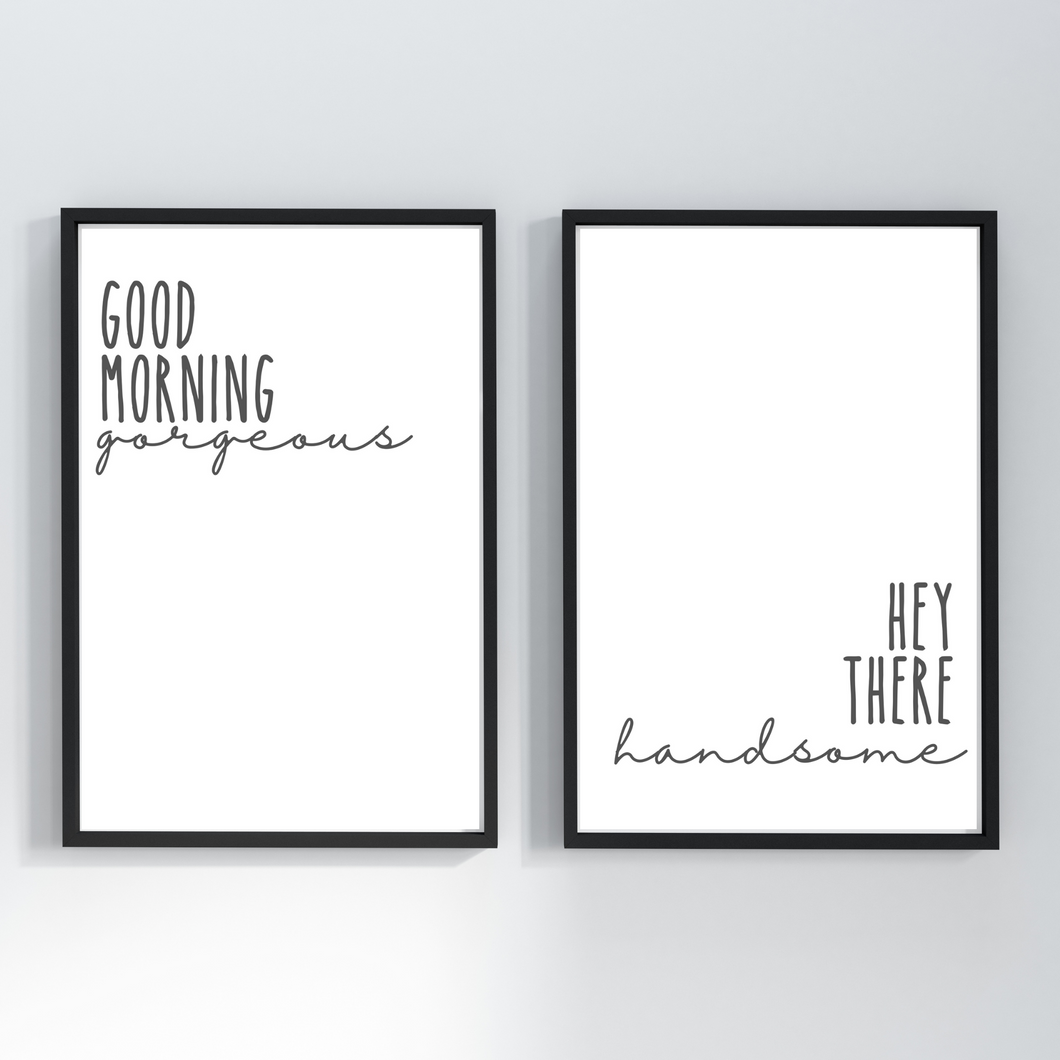 Good Morning Gorgeous Wall decor prints - Bedroom wall art