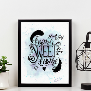 Home Sweet Home Pet Lover Print - Hand-drawn Watercolor Artwork