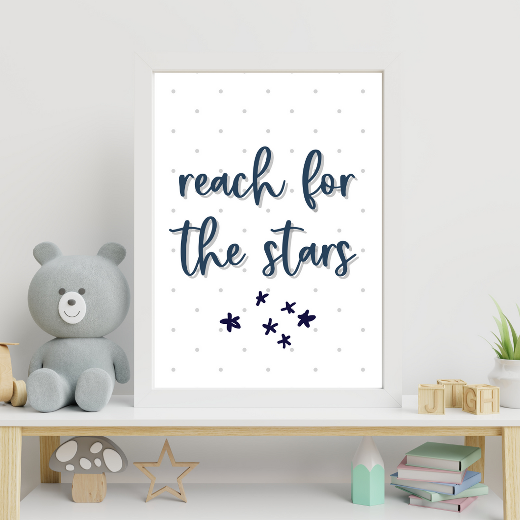 Reach for the stars print - choose your color - wall art print