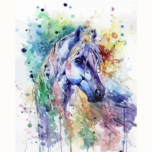 DIY Paint By Numbers Abstract Horse Kit Paint By Numbers thegiddyupstore