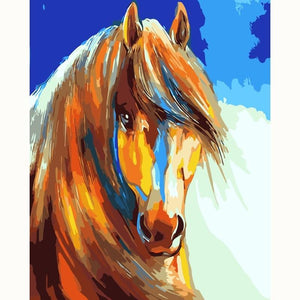 DIY Paint By Numbers Close Up Abstract Horse Painting Paint By Numbers Calming Paints