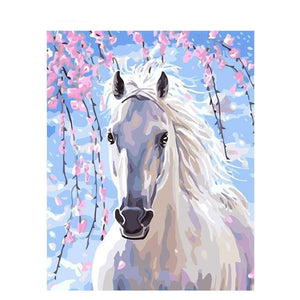DIY Paint By Numbers Close Up Horse Painting Kit Paint By Numbers thegiddyupstore