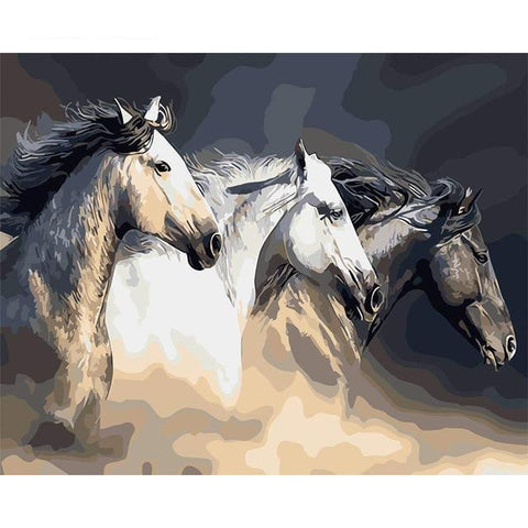 DIY Painting Horses In The Clouds Painting Kit Paint By Numbers thegiddyupstore