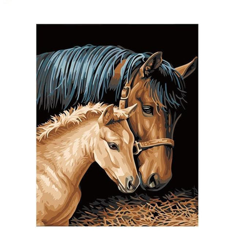 DIY Paint By Numbers Horse And Colt Painting Kit Paint By Numbers thegiddyupstore