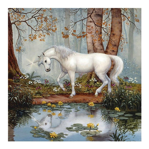 DIY Paint By Numbers Beautiful Unicorn In The Forest Painting Kit Paint By Numbers thegiddyupstore