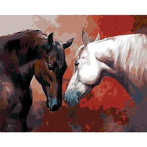 DIY Paint By Numbers Horse Lovers Painting Kit Paint By Numbers Calming Paints