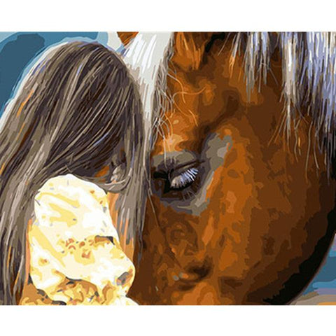 DIY Paint By Numbers Horse And Girl Painting Kit Paint By Numbers Calming Paints