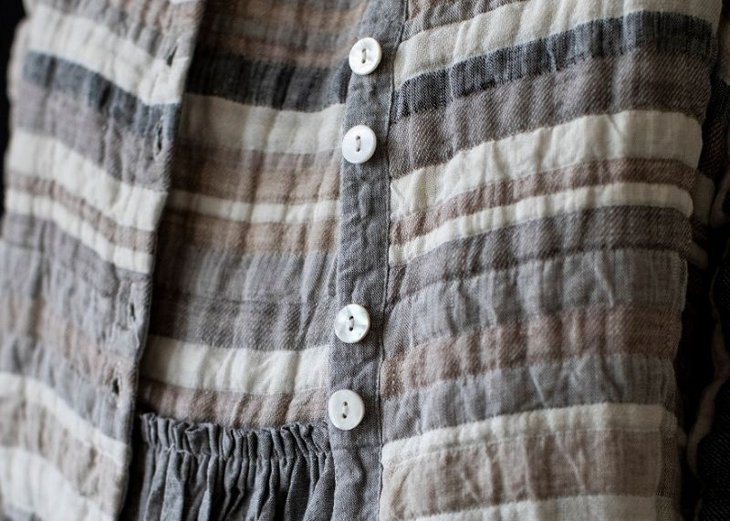 Ladies slow fashion made from sustainable fabrics