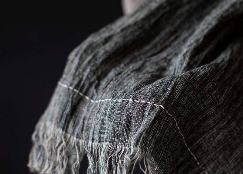 Scarf made from sustainable fabric