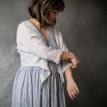 Paris Oatmeal Linen Cardigan