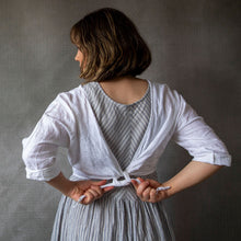 Paris White Linen Cardigan