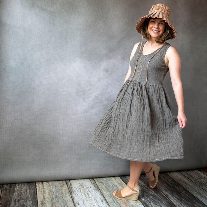 Elloise Dark Flax Linen Dress