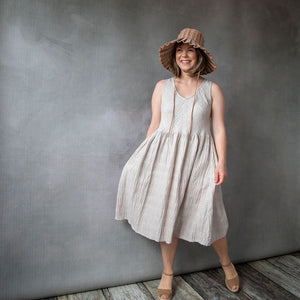 Elloise Oatmeal Linen Dress