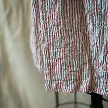 Fluer Dress - Peonie Stripe Linen