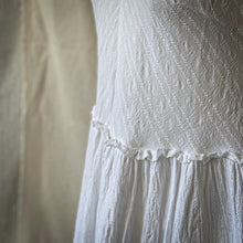 Hamptons dress - White embroidered cotton