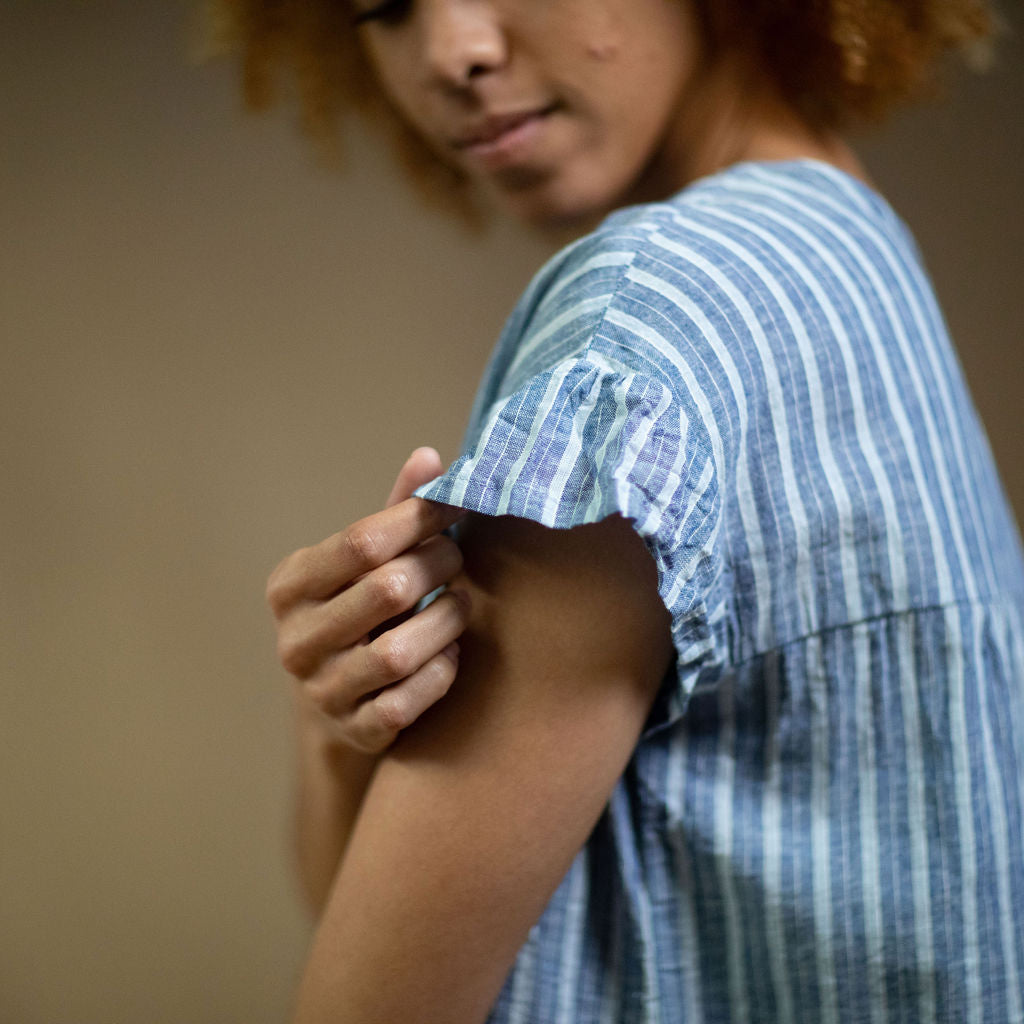 Hamptons dress - Khaki Linen