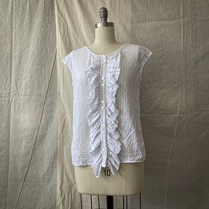 Petal Blouse - White Embroidered Cotton