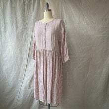 Dalia Dress - Blush Stripe Crinkle Linen