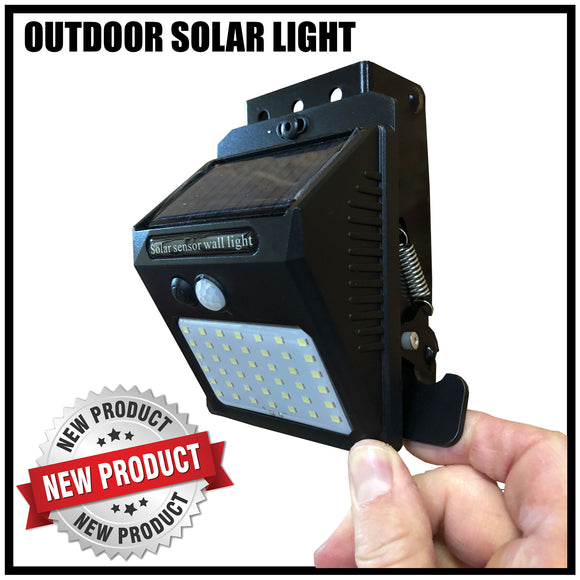 SOLAR LIGHT OUTDOOR, 42 LED, 3 MODES (COMES WITH KEBLOC)