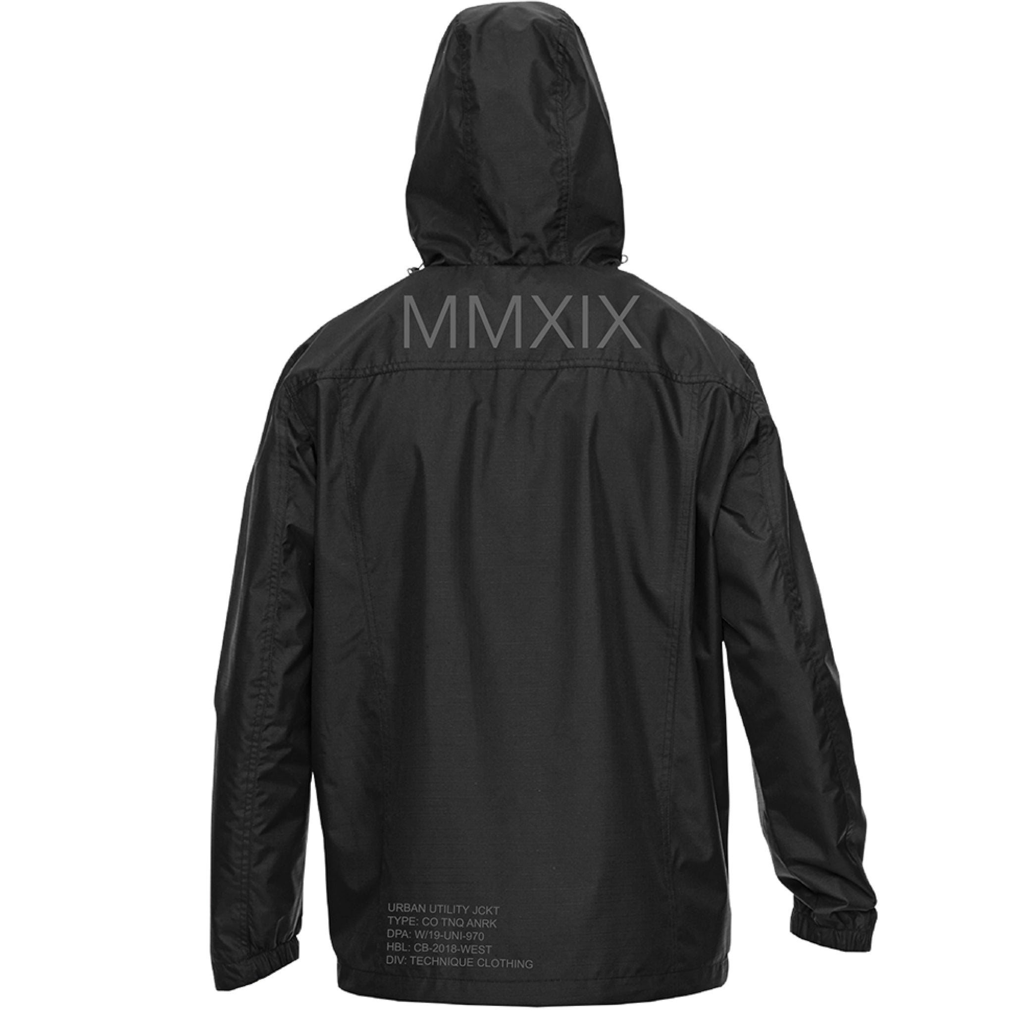 2019 TECH ANORAK - BLACK - Technique Clothing
