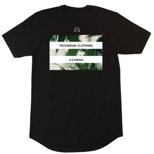 PALM TEE BLACK - Technique Clothing