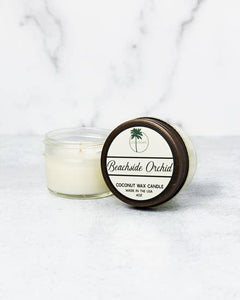 Beachside Orchid Organic Coconut Wax Candle