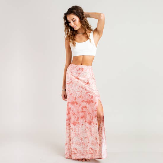 Peach Beach Maxi Skirt