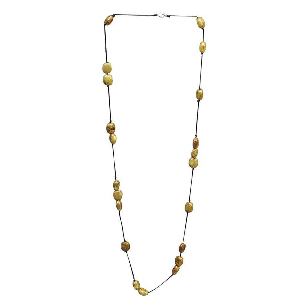 Clay Bead Long Necklace