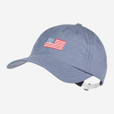 Cool River American Flag Needlepoint Cap