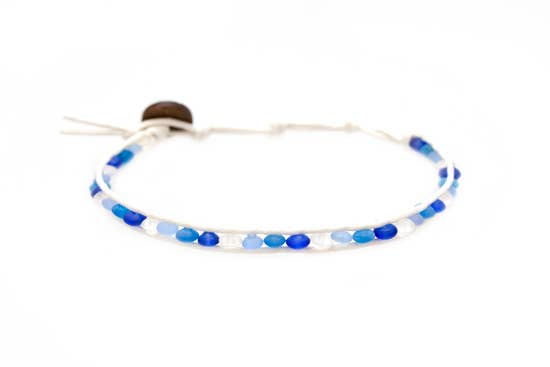 SeaGlass Anklet - Emperor Angel Fish
