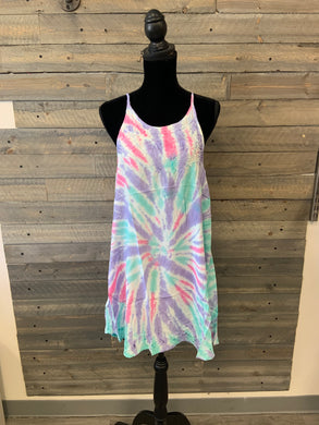 Bright Tie-Dye Short Dress
