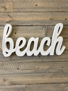 White Washed Beach Decor