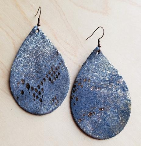 Snake Print Teardrop Earrings