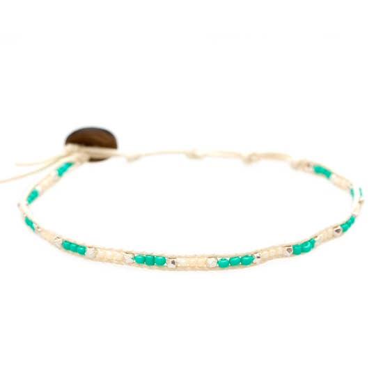 SeaGlass Anklet - Marine Magic